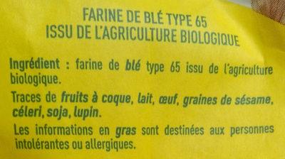 Farine de blé type 65 - Ingrédients - fr