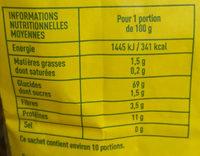 Farine de blé type 65 - Informations nutritionnelles - fr