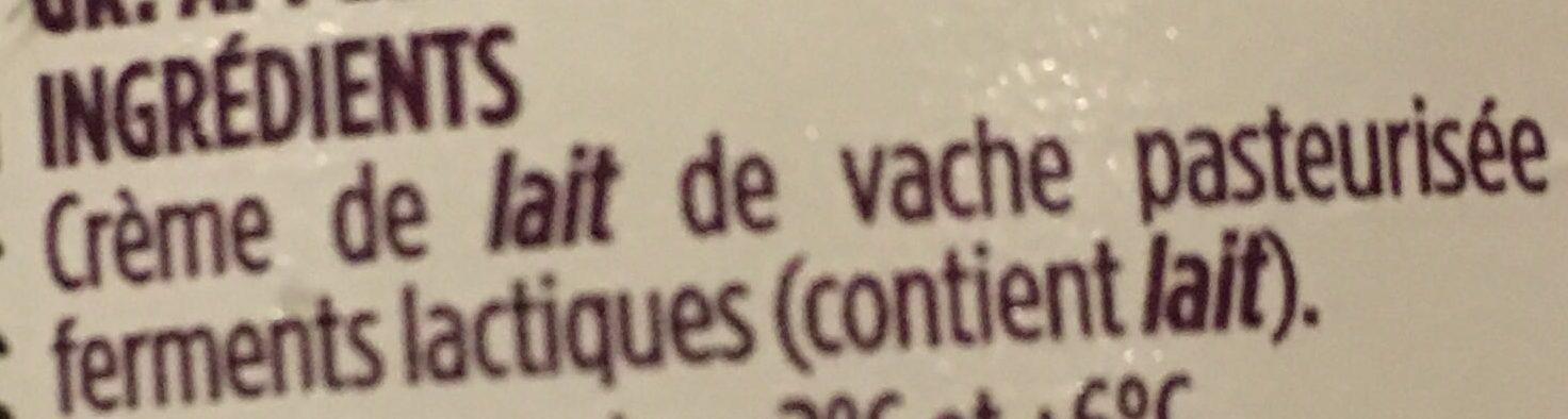 Crème fraîche d'Isigny Épaisse - Ingredients - fr