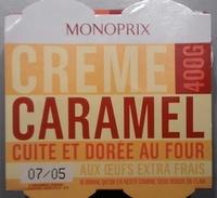 Crème caramel cuite et dorée au four - Produit - fr