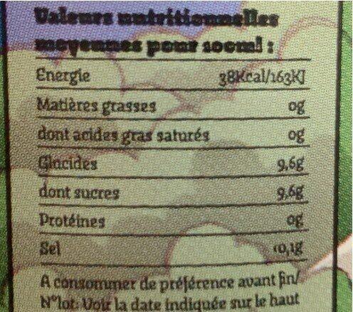Quebec - Informations nutritionnelles - fr