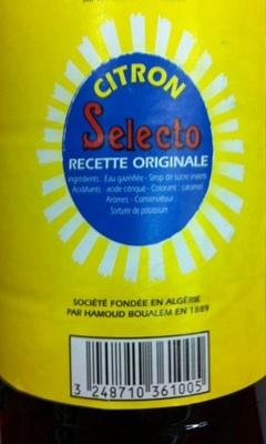 Citron selecto soda - Ingrédients - fr