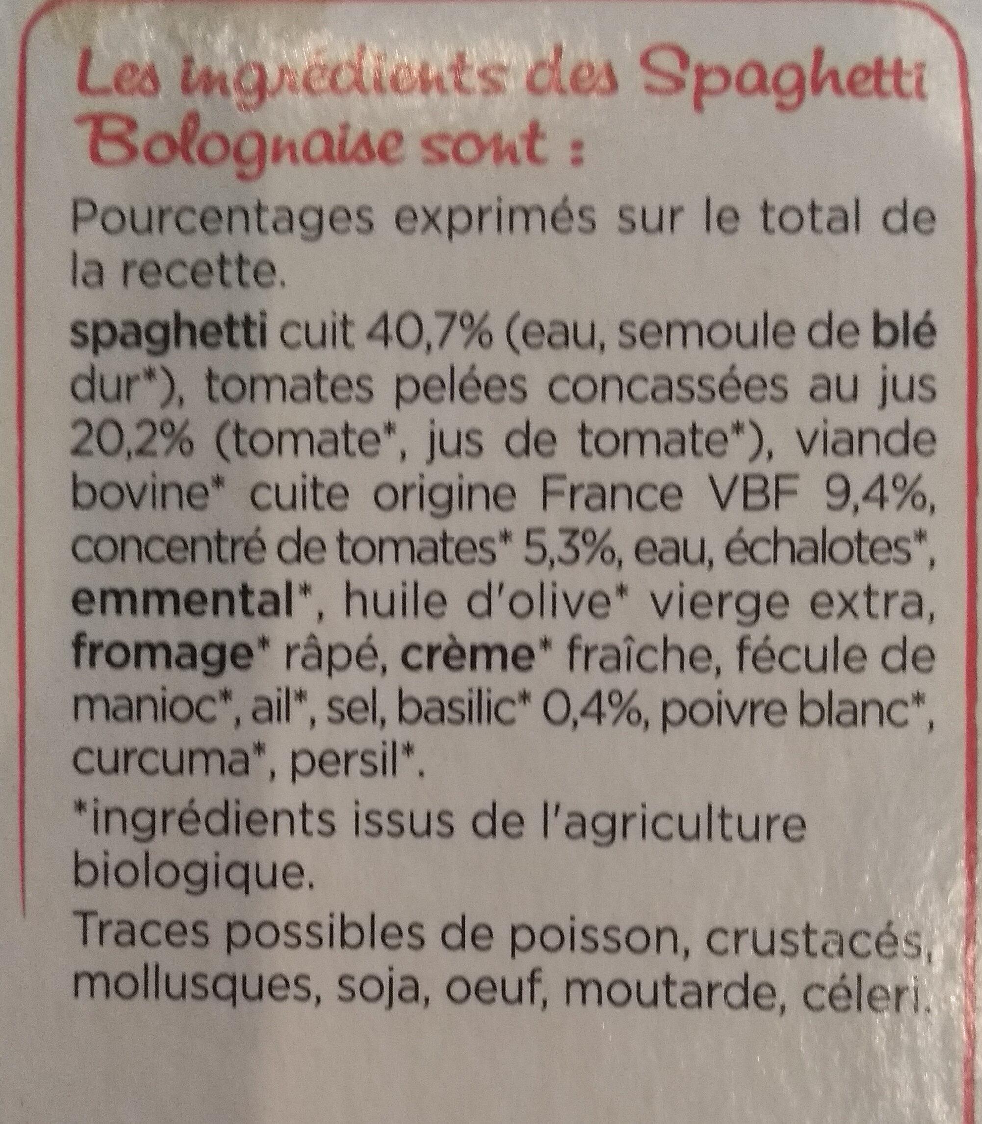 Spaghetti bolognaise - Ingrédients - fr