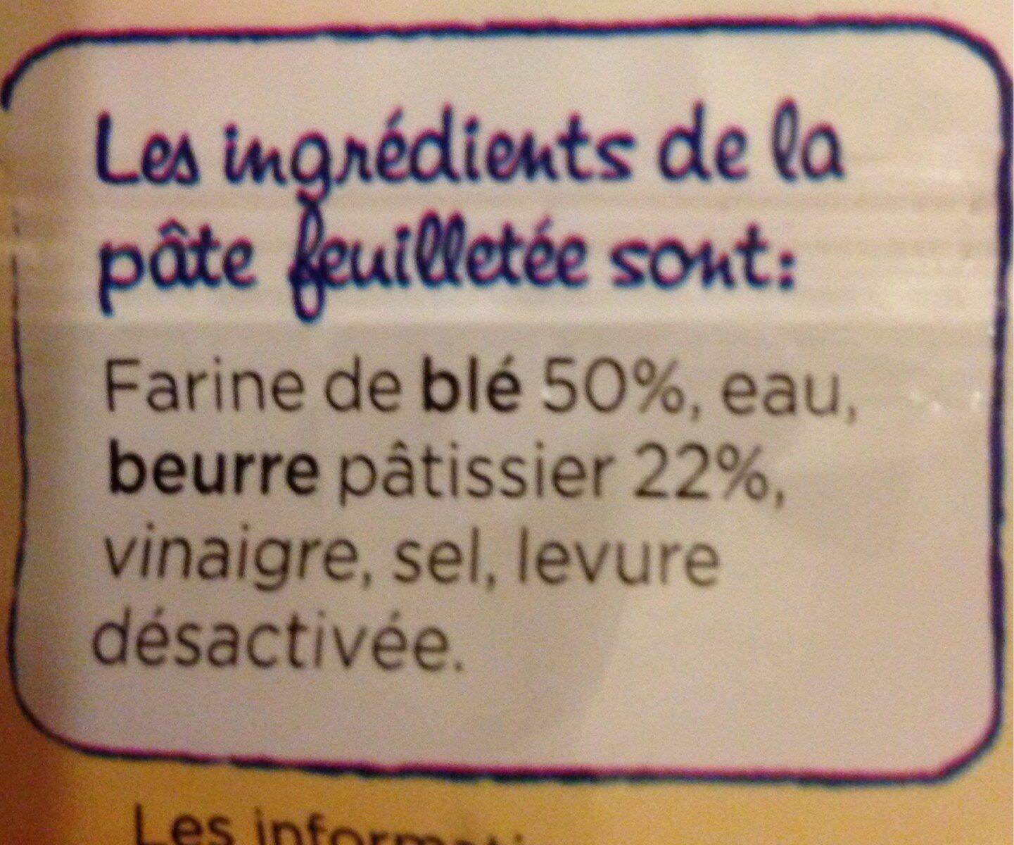 Pâte à tarte feuilletée - Pur beurre - Ingredients - fr