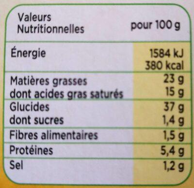 Feuilletée Gourmande - Nutrition facts