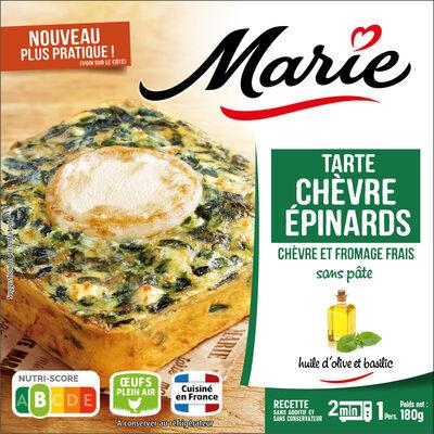 Tarte chèvre Epinard 180G Marie - sans pâte QTI - Product - fr