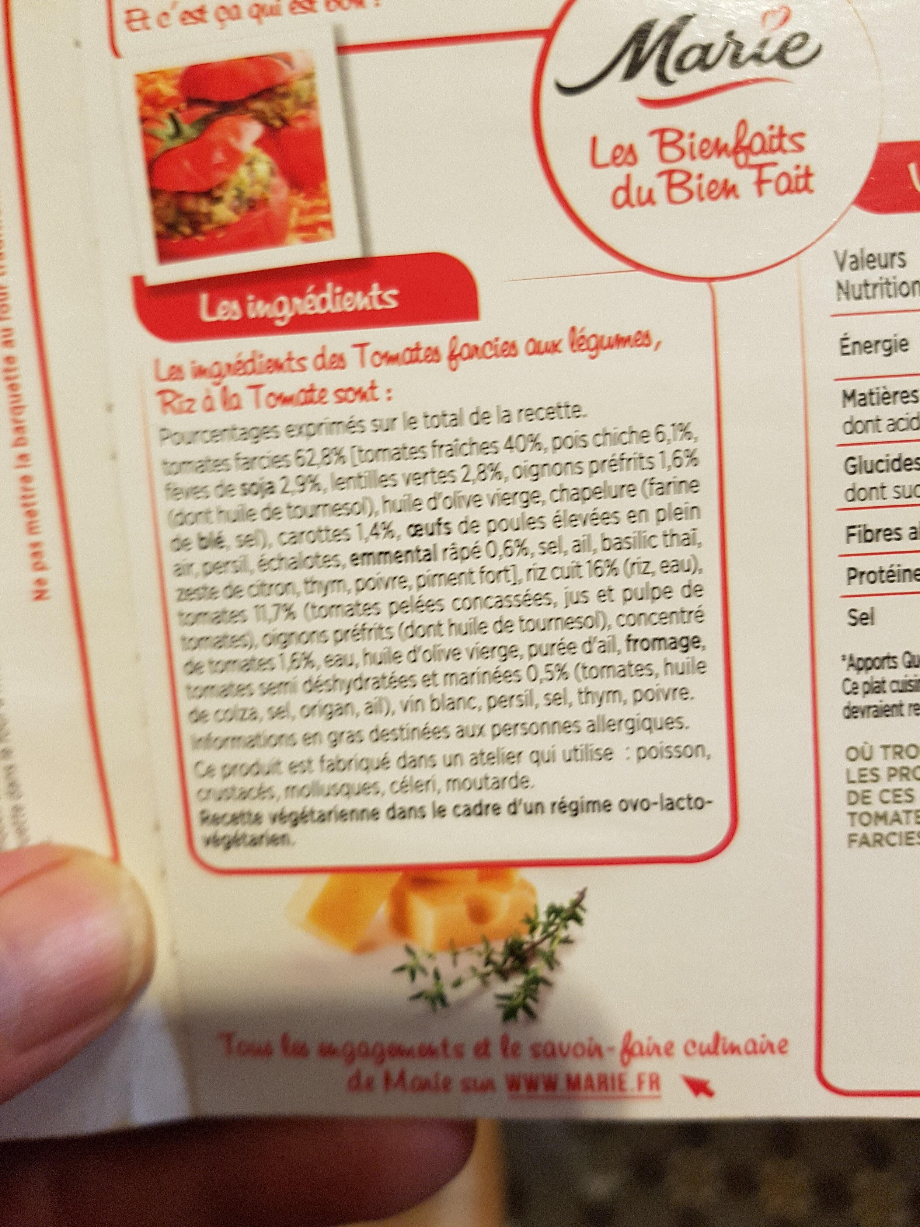 Tomates Farcies aux légumes Riz à la tomate s0 - Ingrédients