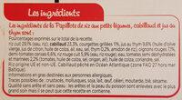 Papillote de cabillaud Riz aux petits légumes - Ingrediënten - fr
