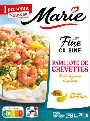 Papillote de Crevettes Petits légumes et riz - Produit - fr