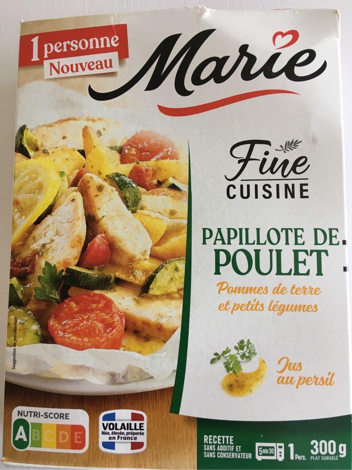 Papillote de poulet, pommes de terre et petits légumes - Product - fr