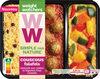 Couscous falafels, semoule aux raisins et légumes frais cuisinés - Product