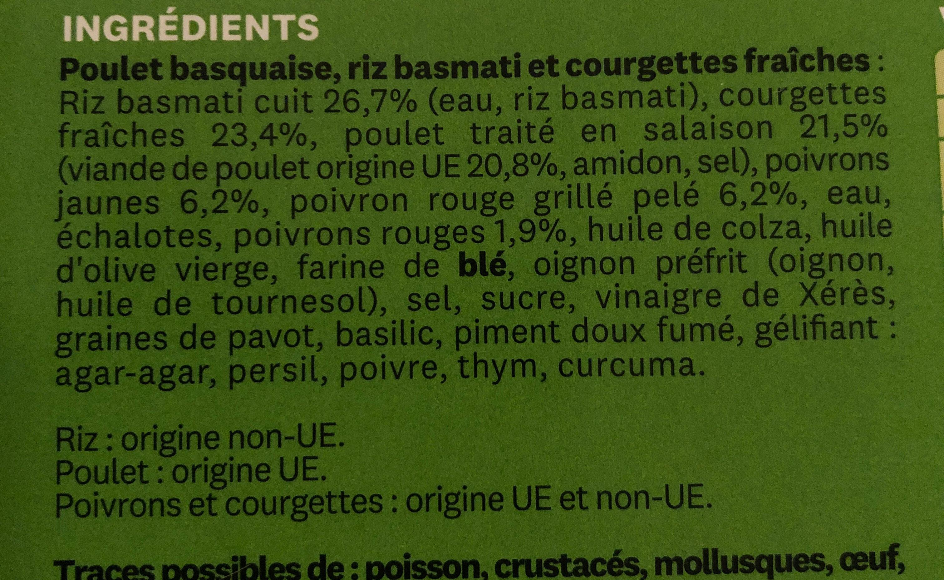 Poulet basquaise - Ingredients - fr