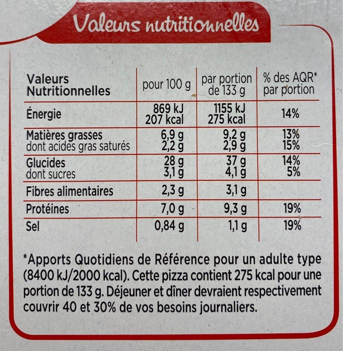 Pizzas du monde La grecque - Nutrition facts - fr