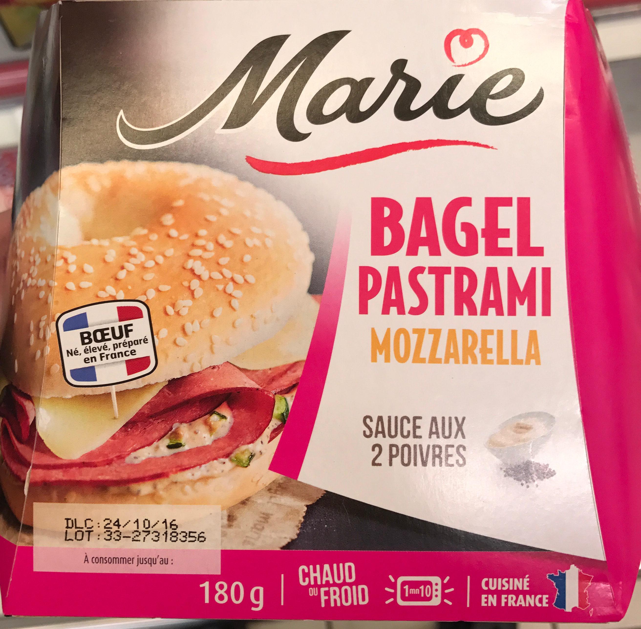 Bagel Pastrami Mozzarella sauce aux 2 poivres - Produit - fr