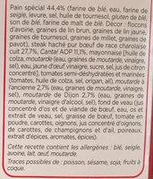 Burger Rustique - Bœuf Charolais Moutarde - Ingrédients - fr