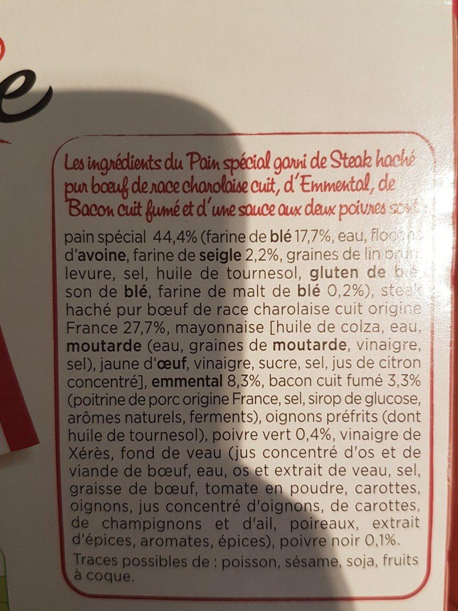 Burger Bacon - Bœuf Charolais Poivre - Ingrediënten - fr