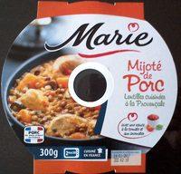 Mijoté de porc lentilles cuisinées à la provençale - Produit