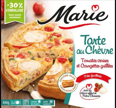 Tarte au chèvre, Tomates cerises et courgettes grillées - Produit - fr
