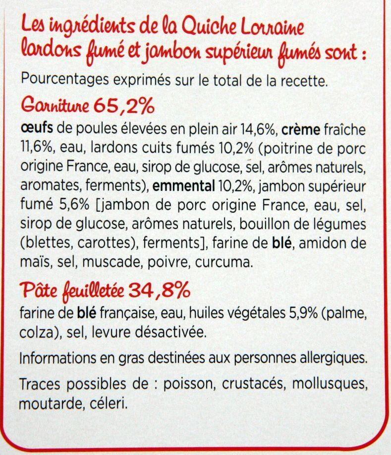 Quiche Lorraine - Ingrédients - fr