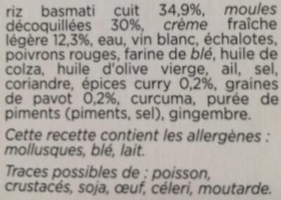 Moules sauce au Curry & riz aux graines de pavot - Ingrédients - fr