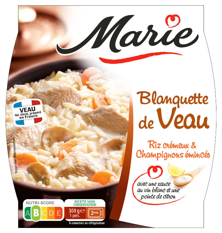 Blanquette de Veau, Riz Crémeux, Champignons eminces - Product