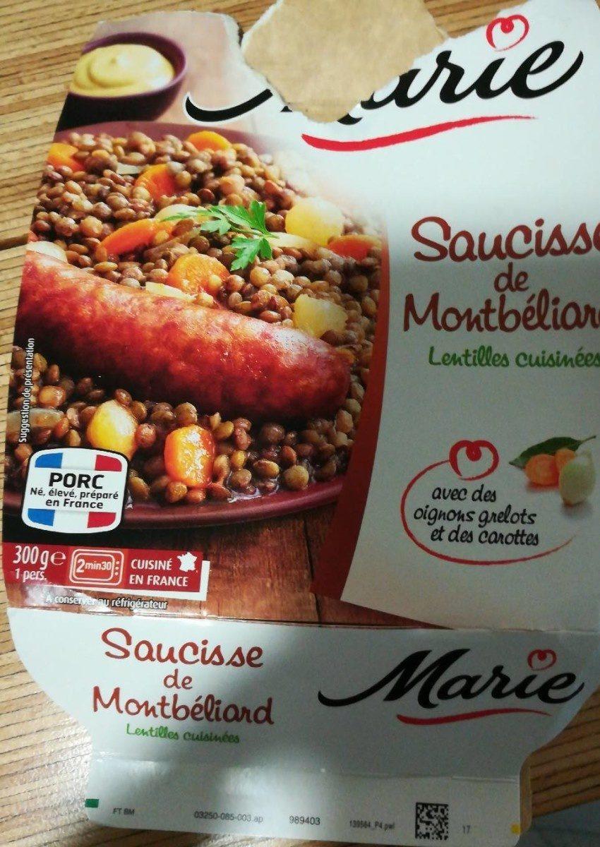 Saucisse de Montbéliard, Lentilles cuisinées - Prodotto - fr