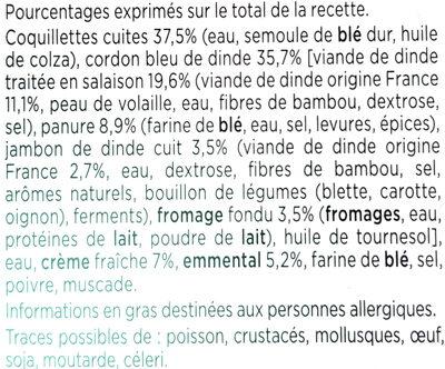 Cordon bleu coquillettes au fromage - Ingrédients - fr