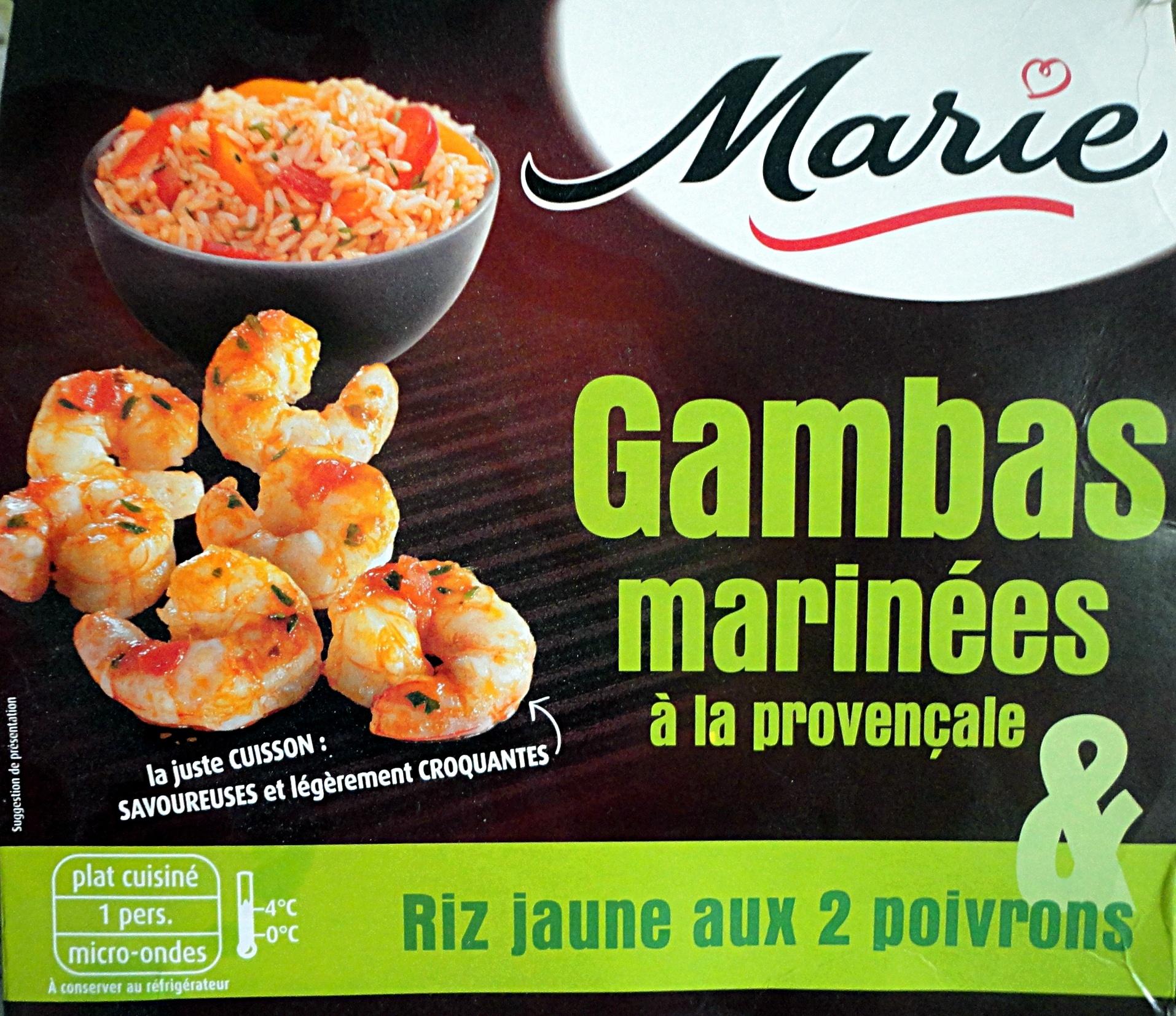Gambas marinées à la provençale & Riz jaune aux 2 poivrons - Produit