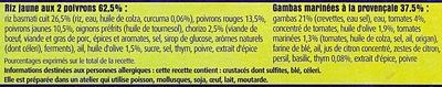 Gambas marinées à la provençale & Riz jaune aux 2 poivrons - Ingrédients