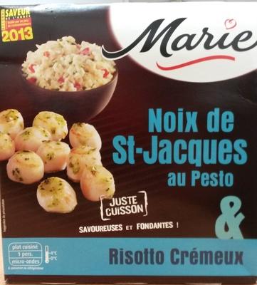 Noix de St-Jacques au Pesto & Risotto Crémeux - Produit - fr