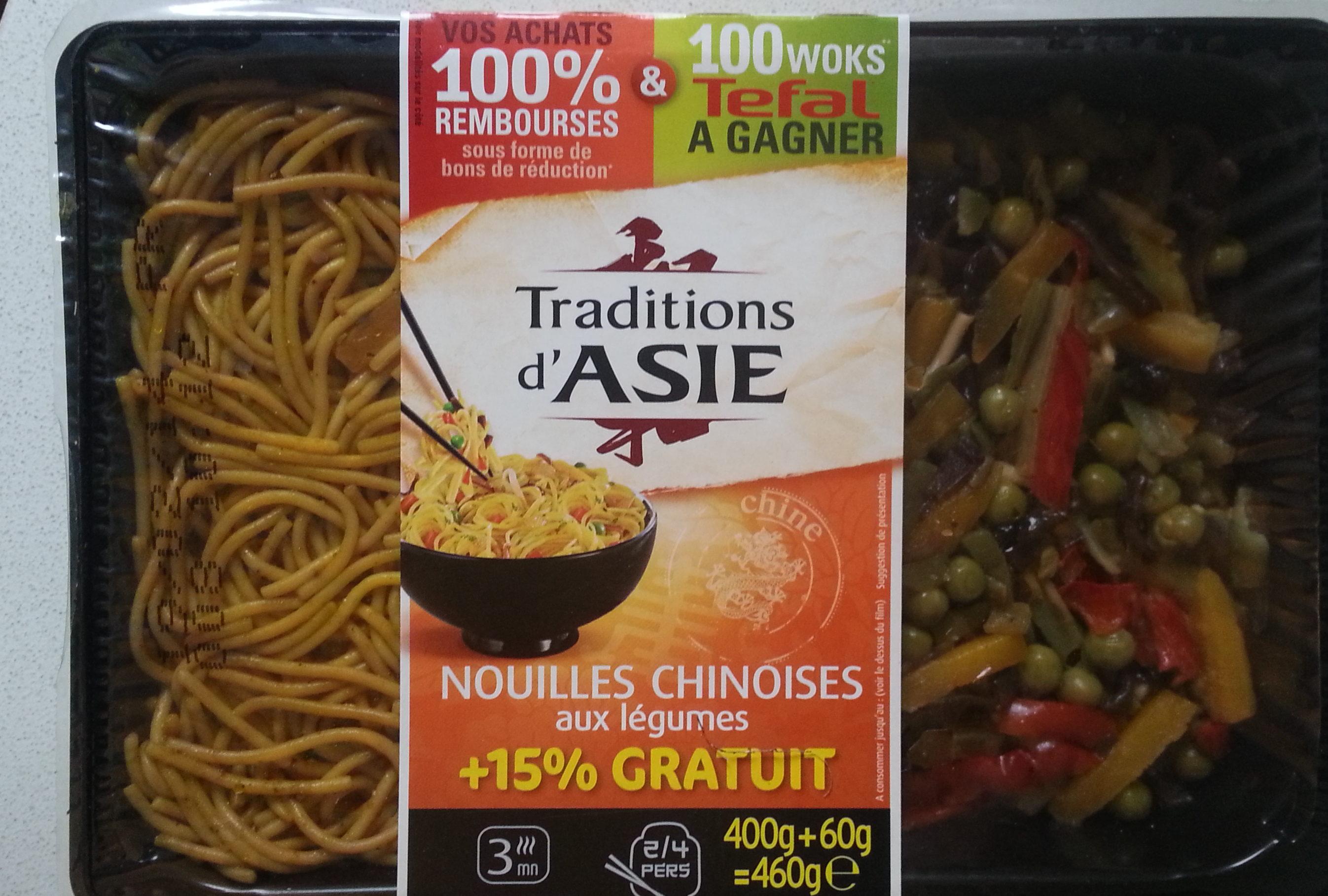 Nouilles chinoises aux légumes - Produit