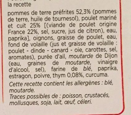Poulet et pommes de terre fondantes - Ingrédients - fr