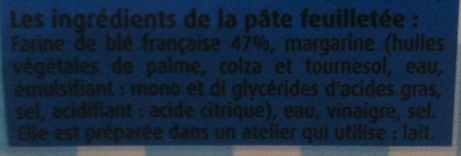 Pâte à Tarte Feuilletée Tout Simplement - Ingrédients - fr