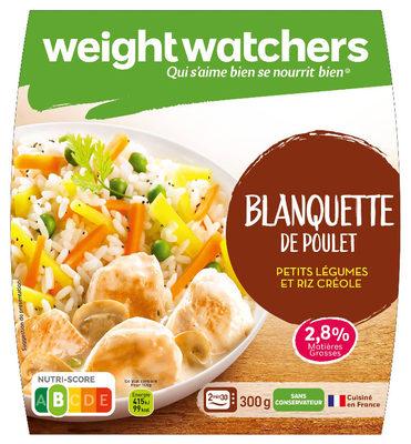Blanquette de poulet, petits légumes et riz créole - Produit