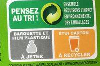 Blanquette de poulet - Instruction de recyclage et/ou informations d'emballage - fr