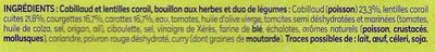 Cabillaud et lentilles corail - Ingrediënten - fr