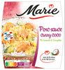 Porc sauce curry coco Riz basmati et Courgettes - Produit