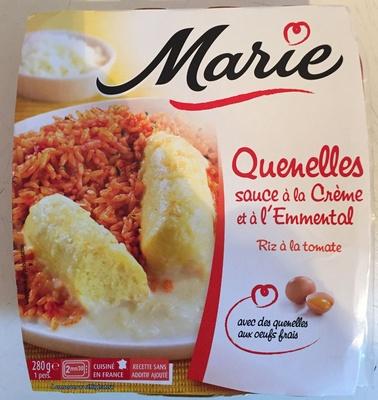 Quenelles, sauce à la Crème et à l'Emmental, Riz à la tomate - Produit - fr