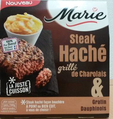 Steak Haché grillé de Charolais & Gratin Dauphinois - Produit - fr