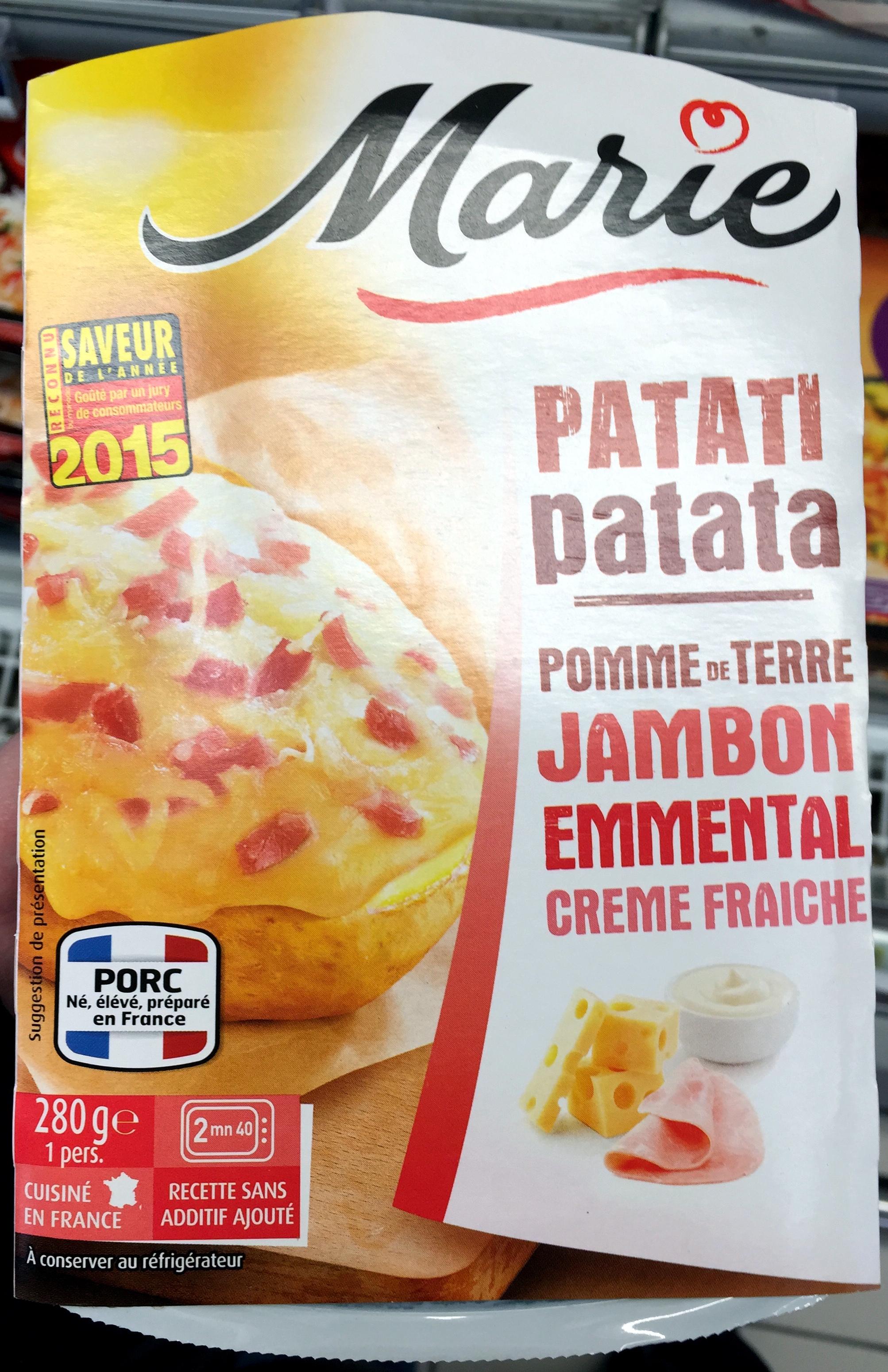 Patati Patata, Pomme de Terre Jambon Emmental Crème Fraîche - Produit - fr