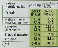 Patati Patata, Pomme de Terre Jambon Emmental Crème Fraîche - Nutrition facts