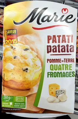 Patati Patata, Pomme de Terre Quatre Fromages - Produit