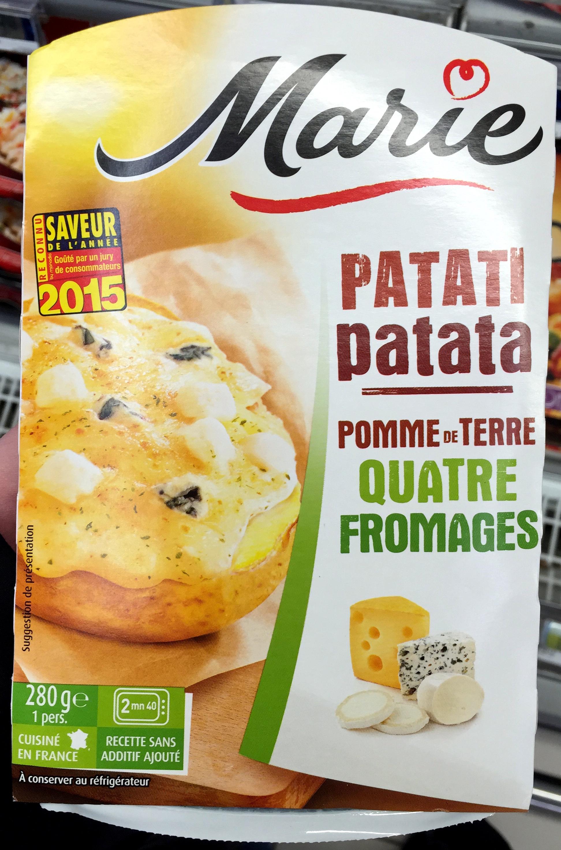 Patati Patata, Pomme de Terre Quatre Fromages - Produit - fr