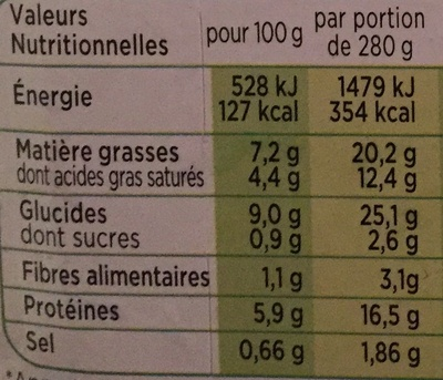 Patati Patata, Pomme de Terre Quatre Fromages - Informations nutritionnelles - fr