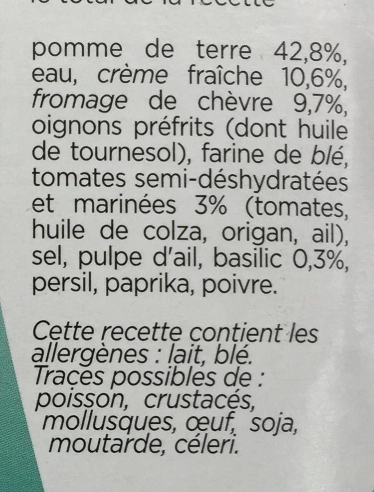 Patati Patata, Pomme de Terre Chèvre Tomate Basilic - Ingrédients - fr