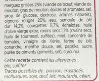 Merguez Grillées Semoule aux Courgettes - Ingrédients - fr