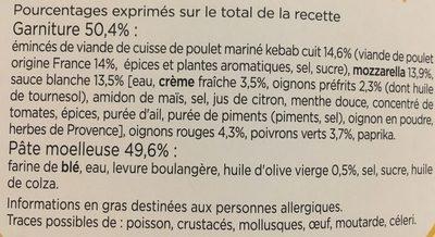 Crousti moelleuse extrême kebab - Ingrédients