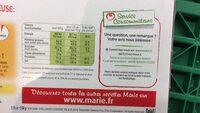 Marie Crousti moelleuse extrême - Kebab - Voedingswaarden - fr