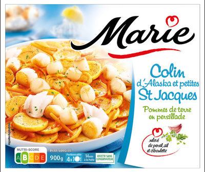Colin d'Alaska et petites St Jacques Pommes de terre en persillade - Produit - fr