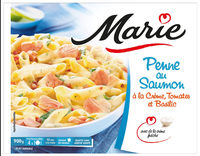 Penne au saumon à la crème d'épinards - Produit - fr